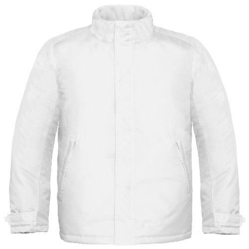 B&C Herren Real+ Premium Thermo-Jacke, wasserabweisend, Winddicht (M) (Weiß)