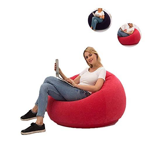 ZEFAN Lazy Aufblasbare Sofa-Stühle, aufblasbarer Sitz, Lounge-Sofa, Couch, Familienliege, Stuhl für Balkon, Garten, Camping, drinnen und draußen