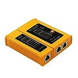 Haudang Herramienta de prueba para cables de red RJ45 RJ11 RJ12 CAT5 CAT6 UTP USB Lan Cable Ethernet Tester (batería no incluida en el paquete)