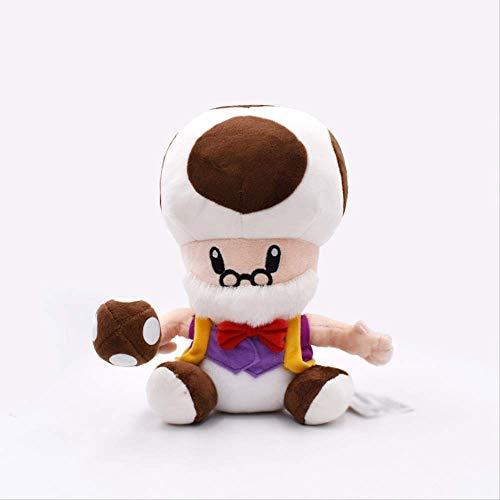 Therfk Super Mario Bros Peluches 25Cm, Muecos De Peluche Suaves Champin Old Man Toys Figuras Muecas para Regalo Infantil