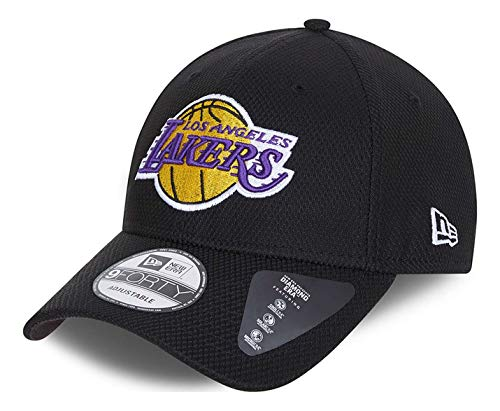 New Era - Gorra NBA Los Angeles Lakers Diamond Era 9Forty Strapback - Negro Negro Talla única