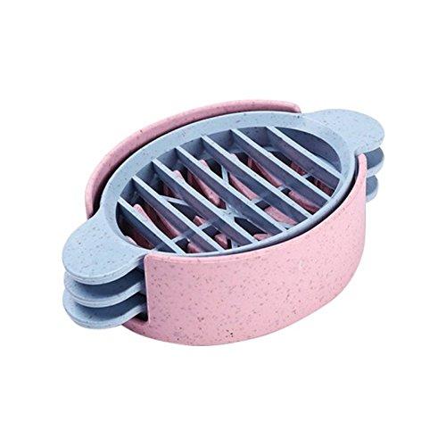 SODIAL Oval Eierschneider Praktische Eierschneider 3 im 1 Formen Ei Pilz Tomatenschneider Kit
