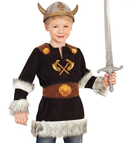 KarnevalsTeufel Kinderkostüm Wikinger Barbar Nordmensch Krieger Eroberer Germane Kostüm für Kinder Gr 104 - 128 (116)