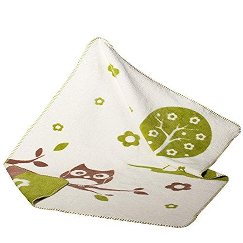 Baby u. Kinder Decke - Einstein natur/braun/grün 75x100 Bio