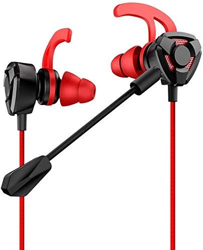 XXT Auriculares de Juego, alseet Auriculares Auriculares Auriculares Auriculares de 3,5 mm Auriculares con Cable con micrófono con micrófono para PC, portátil y teléfonos celulares