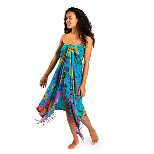 PANASIAM tiedye Sarong blue multicolor