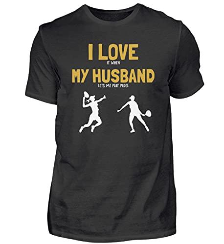 Padel Paddle Tennis | 01072 - Camiseta para hombre Negro XXXL
