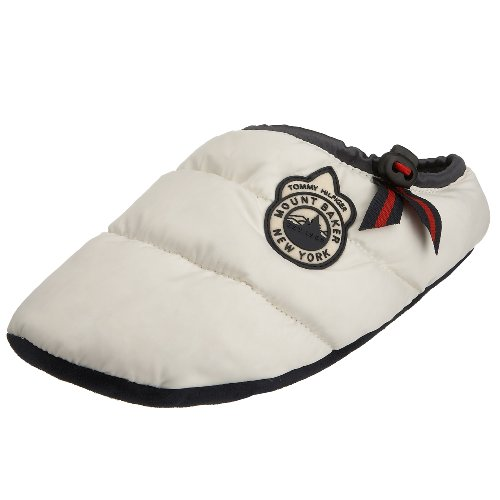 Tommy Hilfiger - Pantofole da Donna in Nylon, Bianco (Bianco), 39/40 EU