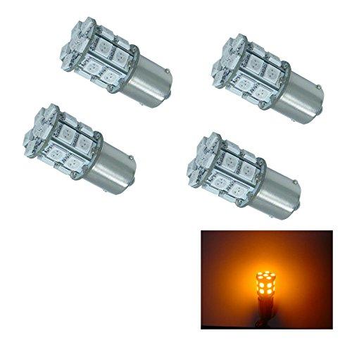 PA 4 pcs de voiture 20 SMD 5050 LED S25 1156 382 P21 W Parking Arrêt lampe inversée sauvegarde lumière 12 V-yellow (Ba15S)