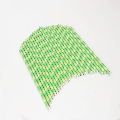 500 Stuks Papieren Rietjes 7,75 Inch Wegwerp Milieuvriendelijk Biologisch Afbreekbaar Bamboepatroon Rietjes Voor Sappen, Shakes, Smoothies, Verjaardagen, Bruiloften, Feesten