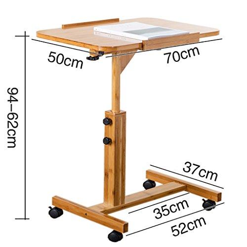 RUNWEI Computer Schreibtisch Massivholz Arbeitsplatte Hubtisch Persönliche Workstation (Size : 70x50x62-94cm)