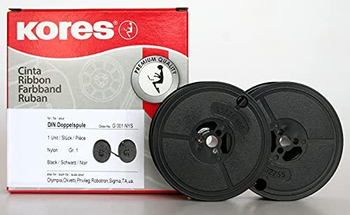 Kores G001NYS Farbband, Nylon schwarz für Modell DIN Doppelspule