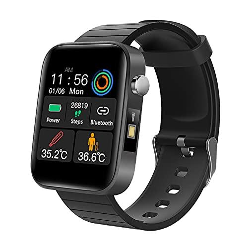 N \ A Relojes Inteligentes para Hombres y Mujeres, Reloj Inteligente para teléfonos Android y teléfonos iOS, Pantalla táctil Completa de 1.54', Reloj Fitness Tracker con Monitor de sueño, Negro