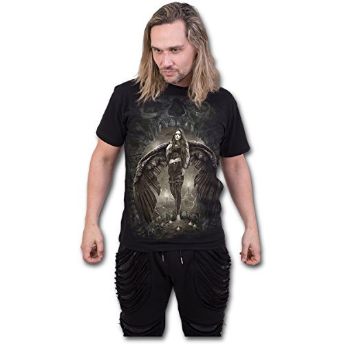 Spiral T-Shirt Dark Angel da uomo in nero