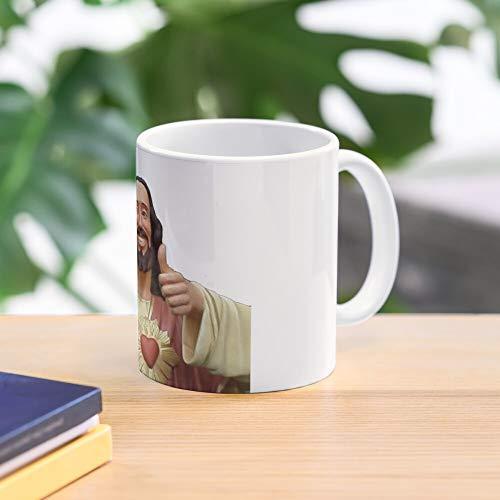 5TheWay Christ Buddy Mug - Taza de café de Regalo de Moda Superventas Negra, Blanca, Cambia de Color 11 onzas, 15 onzas para Todos…