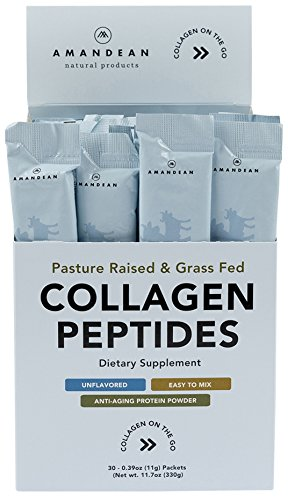 Collagen Peptides Powder Packets | 30 Individual Stick Packs | Grass-Fed Hydrolyzed Collagen Protein | Unflavored, Easy to Mix | Paleo & Keto Friendly | Promotes Healthy Joints, Gut, Skin, Hair, Nails