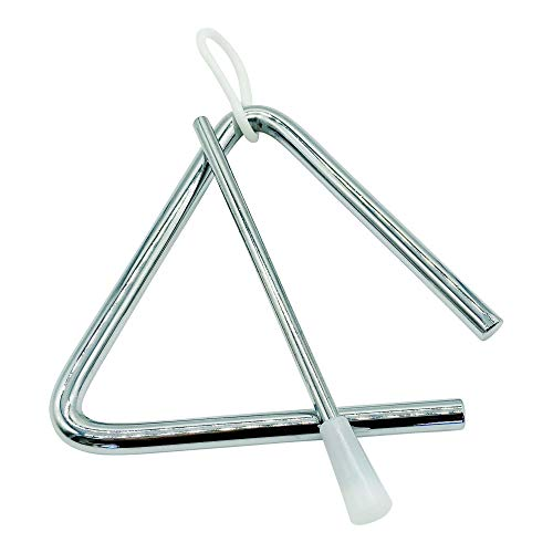 GICO Kinder Triangel aus Metall klein 10 x 10 cm mit Klöppel Schlaginstrument - 3869