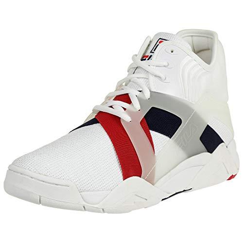 Fila Herren Weiß/Marine/Rot Cage 17 Sneakers-UK 10