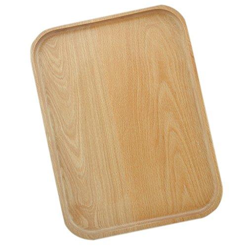 Sharplace Bac à Servir en Bois Plateaux Petit Déjeuner Plat Table Décoratif Thé Café - B 18,5 × 13 cm