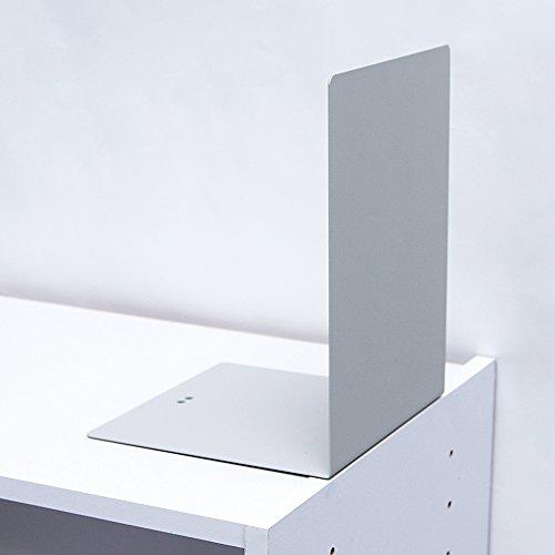 カール事務器ブックエンド(大)ライトグレーLB-55-L