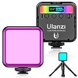 最新 Ulanzi VL49 RGB撮影ライト+三脚付き LEDビデオライト 卓上スタンド 359色RGBモード 明るさ調整が可能 9000k明るい白色光 2000mAh USB充電式 iphone/Gopro/Osmo Pocket/Samsung/Nikon/Canon/Sony/アクションカメラに適用