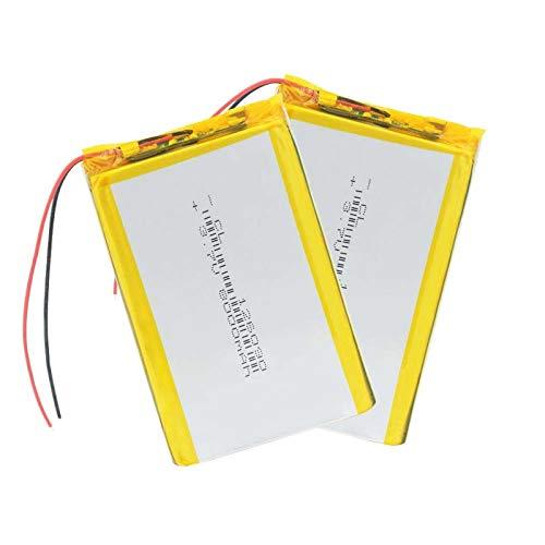 RFGTYH 126090 batería de polímero de Litio de 3,7 V batería Recargable Li-Po de 8000 Mah para Tableta MP4 MP5 E-Book GPS Banco de energía Dispositivos médicos 2Pcs