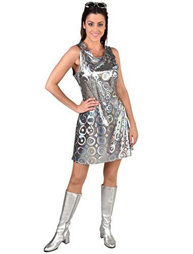 MAGIC BY FREDDYS Vestido de los años 60 para mujer, plata, talla: XXXXL (4XL)