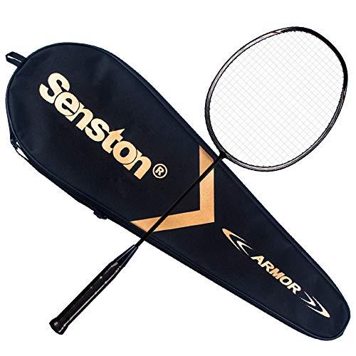 Senston N80 Ultra-Lict 100%GraphitBadmintonschläger Carbon Badmintonschläger mitSchlägertasche