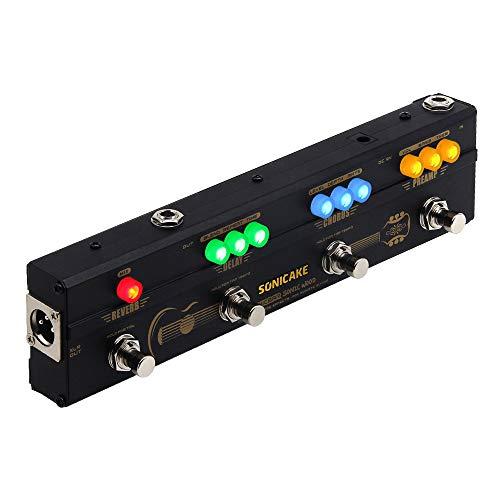 SONICAKE Multieffetto Pedale per chitarra Sonic Wood Preamp acustica DI Box Multi effetti Chorus Delay Reverb Pedal con uscita XLR