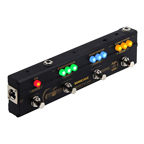 SONICAKE Acoustic Pedal Guitar Effect Acoustic Pedal Multi Effects Preamp Chorus...