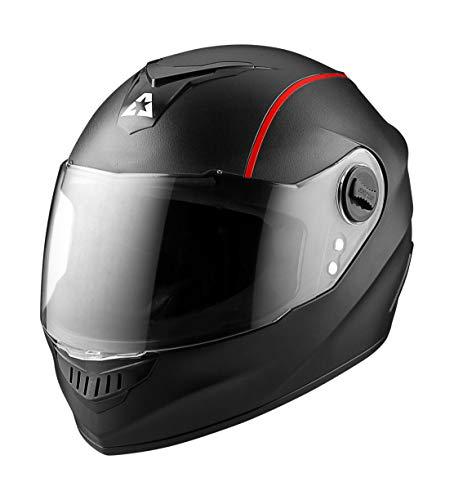 Aaron Alpha Full Face Helmet with Transparent Visor (Black)