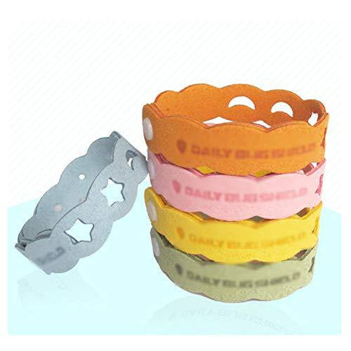GKJ Bracelet Anti-Moustique, 5 Pcs Bracelet Anti-Moustique pour Enfants, Adulte, Bracelet Anti-Moustique Réglable, Anti-Moustique