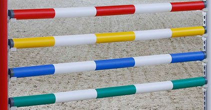 Hindernisstangen, Sprungstangen, 1-farbig lackiert, 50 Stk., Ø10cm, 3,00m Länge (Stückpreis 34,05€ inkl. Versandkosten franko BRD)