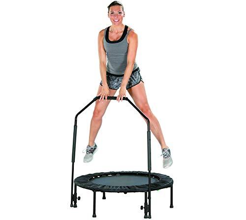 Fitness-Trampolin, faltbares Indoor Minitrampolin,...