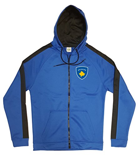 Kosovo Jacke Sweater Royal GO Kosove Trikot Look Zip Nation Fussball Sport (M)