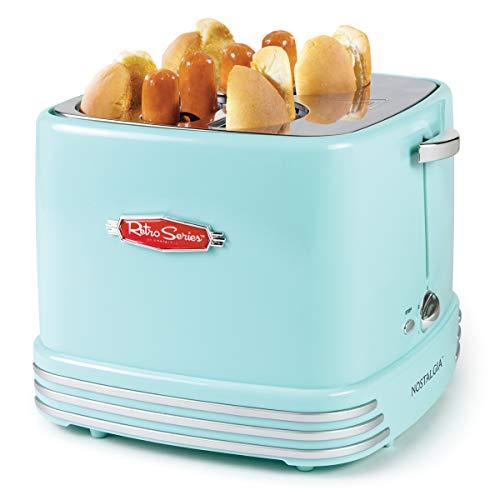 Nostalgia Retro Four Hot Dogs & Buns Pop-Up Toaster
