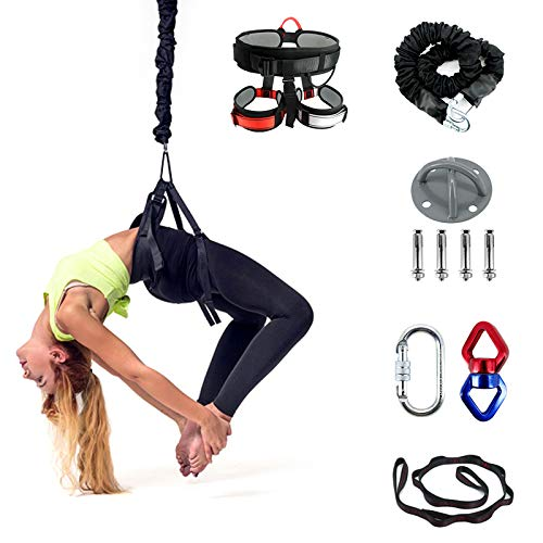 Kit de cinturón de yoga 5D de alta elasticidad, resistencia antigravedad, para interiores, yoga, baile, fitness, vitalidad para hombres y mujeres