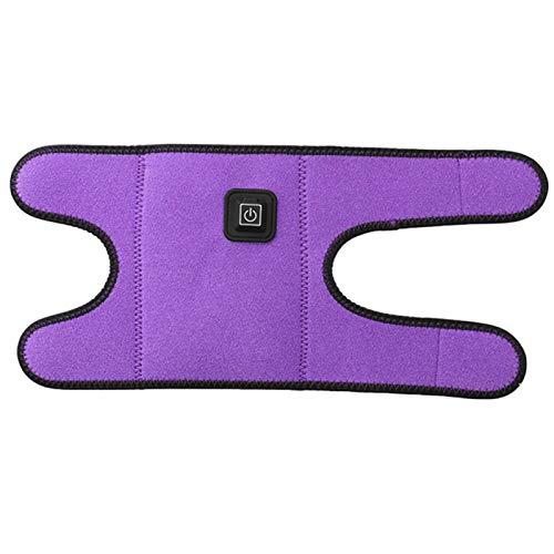 Fiacvrs Codera calentada, almohadilla ajustable para el codo con calefacción con ajuste de temperatura de 3 niveles, recargable por USB, para golfista, tenis, tendinitis, dolor de codo (morado)