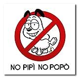 Prodotto Cartel de PVC con texto 'Prohibición No Caca e Pipì' para perros