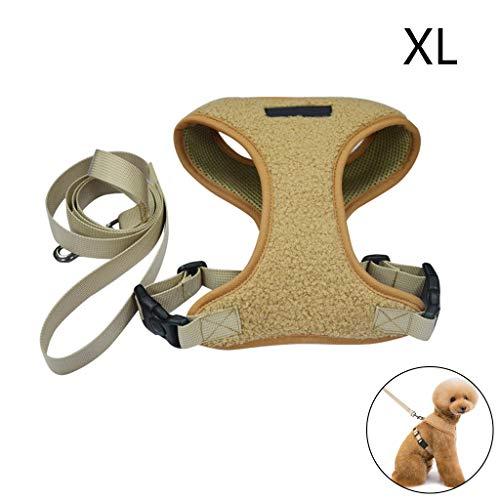 erticvtiu Hundegeschirr mit Leine, verstellbare 2 Ringe und Griff