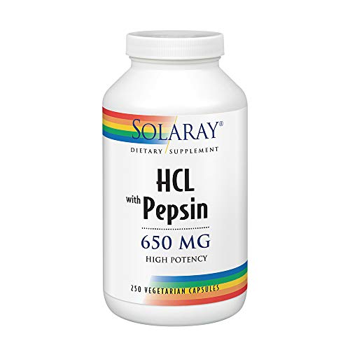 Solaray High Potency Betaine HCL with Pepsin 650 Milligram | Hydrochloric Acid Formula for Healthy...