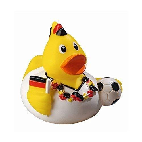 Mein Zwergenland Quietsche-Ente Quietscheente Badeente Bath Duck Fußball Soccer WM EM Fan