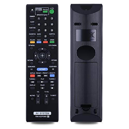 Oumeite Provides A New RM-ADP069 to Replace The Remote Control. Suitable for Sony Home Theatr HBDE580 BDV-N790W HBD-E3100。