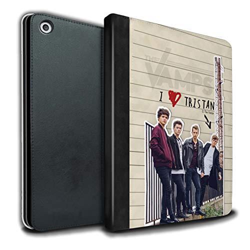 The Vamps PU Pelle Custodia/Cover/Caso Libro per Apple iPad 9.7 2018/6th Gen Tablet/Tristan Diario Segreto Disegno