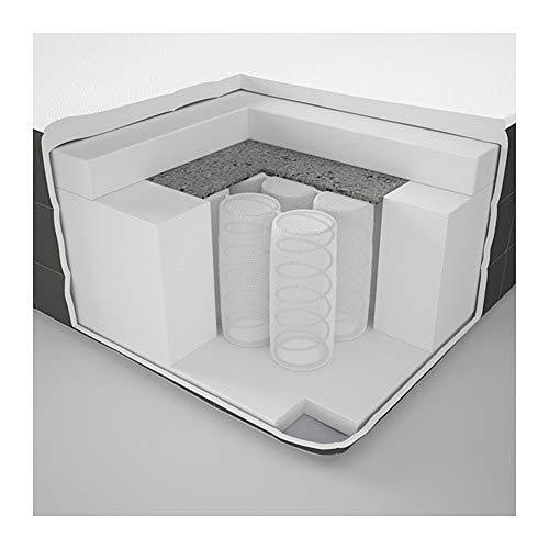 IKEA HOVAG, materasso a molle insacchettate, rigido, colore: grigio scuro