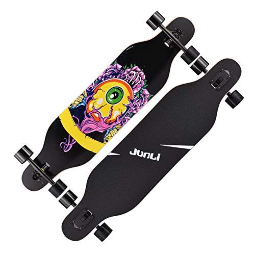 VOMI Skateboard Retro Cruiser 41 Zoll Board Ahornholz Pennyboard Langstrecken Skate, Vintage Geschenk für Erwachsene Anfänger Professionel Kinder Jungen Mädchen