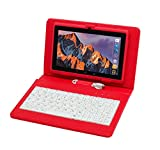 Tablet PC Pantalla táctil de 7 Pulgadas, Qrdenador Tablet Quad-Core con Funda para Teclado,Doble Cámara, Bluetooth,Wi-Fi, 8GB Nand Flash, Juegos 3D compatibles,con Lápiz Stylus