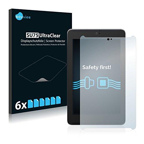 savvies 6-Pezzi Pellicola Protettiva Compatibile con ASUS FonePad 7 ME372CG Protezione Schermo Trasparente