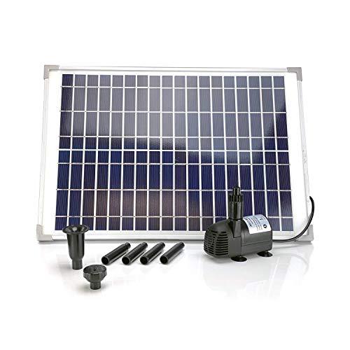 20W Solar Water Pump KIT: DC Brushless Submersible Water Pump 410GpH with 18V 20W Solar Panel for Solar Fountain, Fish Pond, and Aquarium (No Backup Battery)