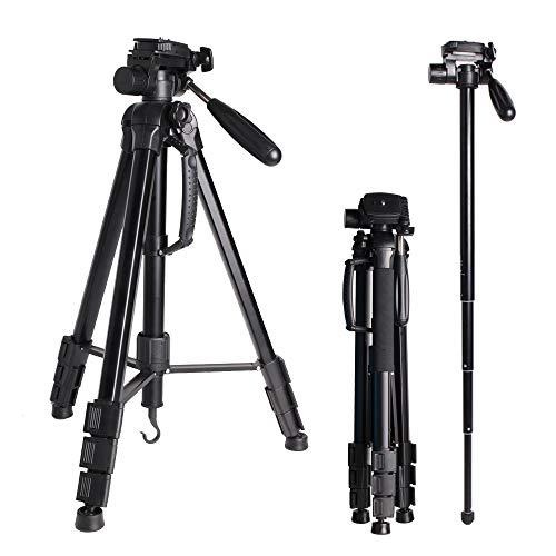 Trípode Portátil 176cm/69.3inch para Cámara Digital/DSLR/Gopro/Smartphone, Ligero Aluminio Trípode Monopie con Placa Liberación Rápida para Sony Nikon Camera...